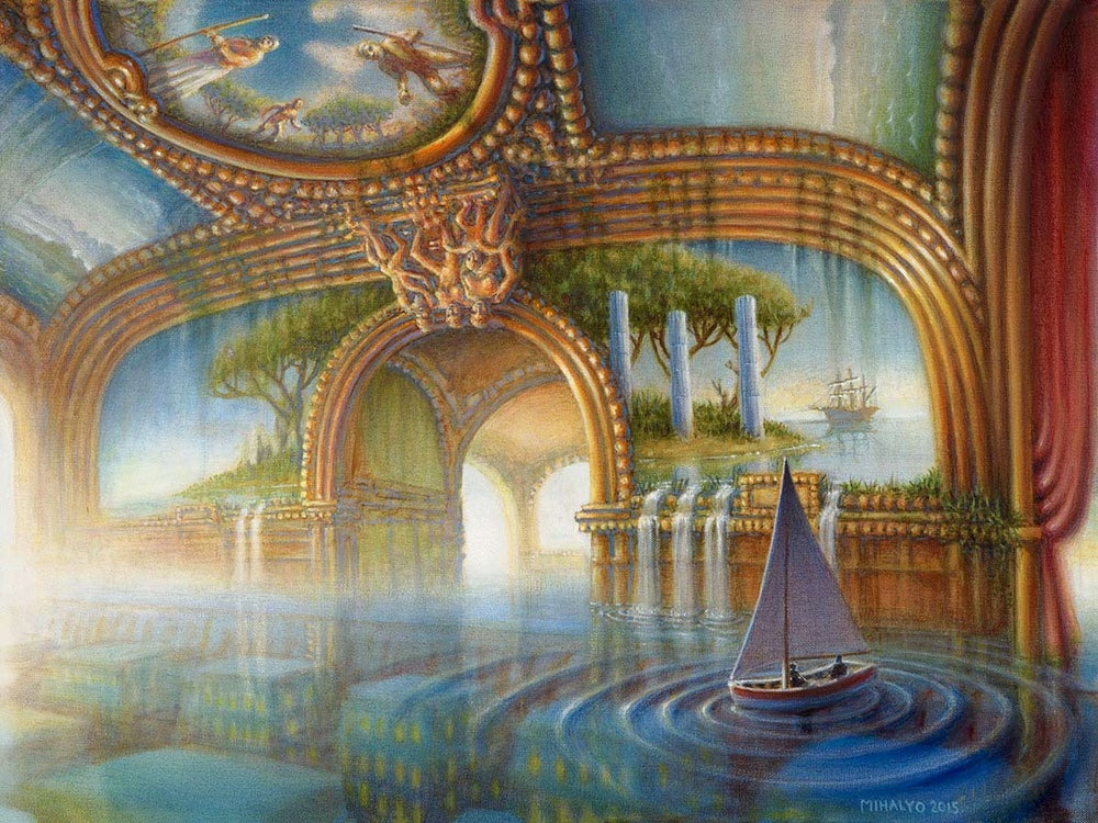 Image of Train Blue Boating - Giclee print