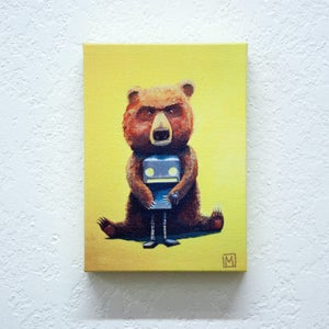 Bear and Robot I - Robot Art by Matt Q. Spangler