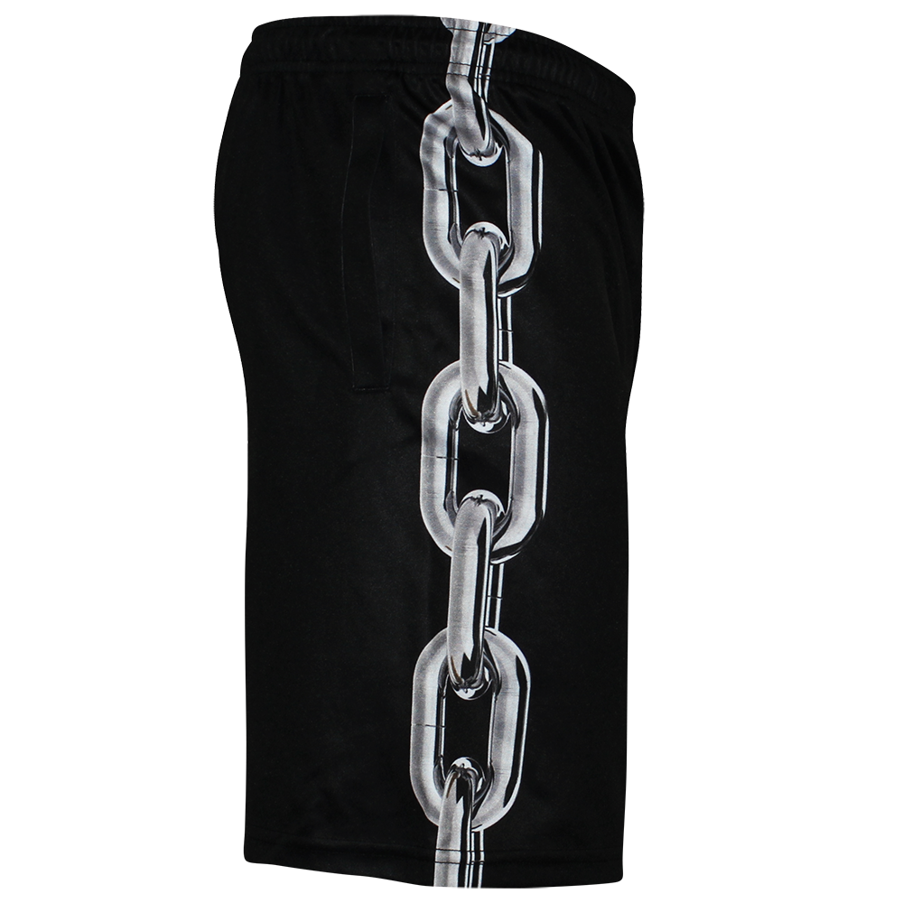 Image of LOCKED UP BLACK SHORTS