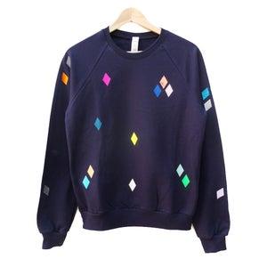 Image of Sweater Diamonds navy ADULTS