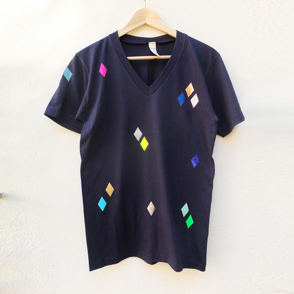 Image of T-Shirt Diamonds navy ADULTS