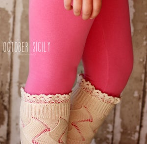 Image of Lace Boot Cuff, Textured Knit, 4 colors