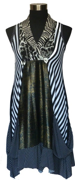 Image of Striped Button dress SW740