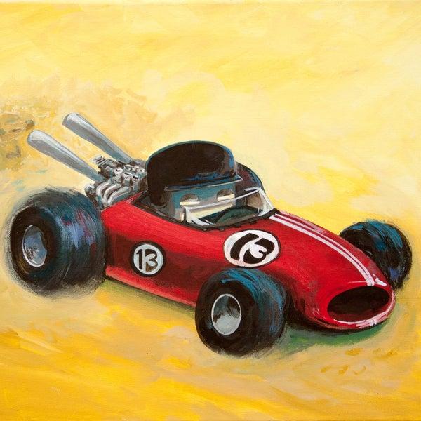 Formula Won - Matt Q. Spangler Illustration
