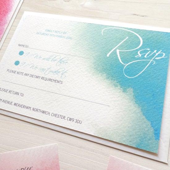 Image of Love Haze Bespoke Wedding Invitation and RSVP Personalised Bundle
