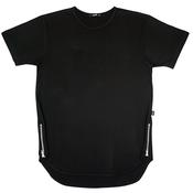Image of BLACK ZIPPER TEE