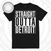 Image of Straight Outta Detroit -  Black - White