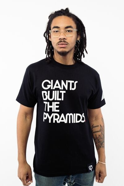 Image of GIANTS BUILT THE PYRAMIDS - Black