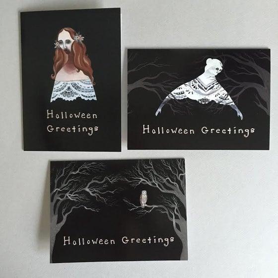Image of Halloween Greetings set