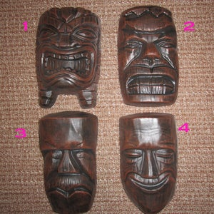 Image of Vintage reproduction Tiki heads