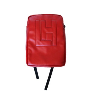 Image of LH Embossed BackPack (Red)