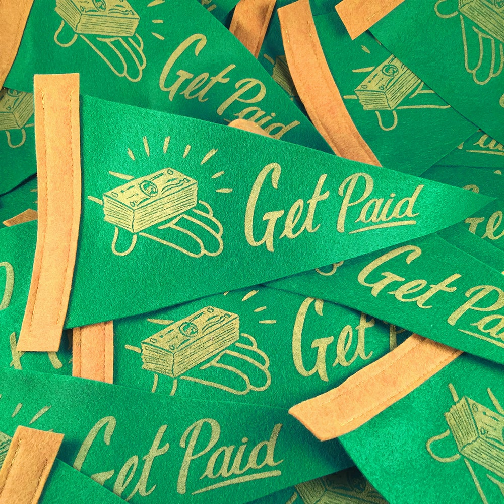 Image of Get Paid - Mini Pennant