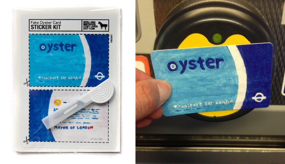 Image of Fake Oyster Card Sticker Kit