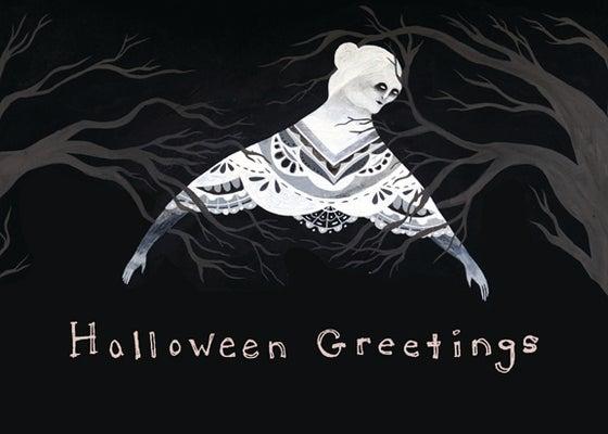 Image of Halloween Greetings blank card (ghostie)