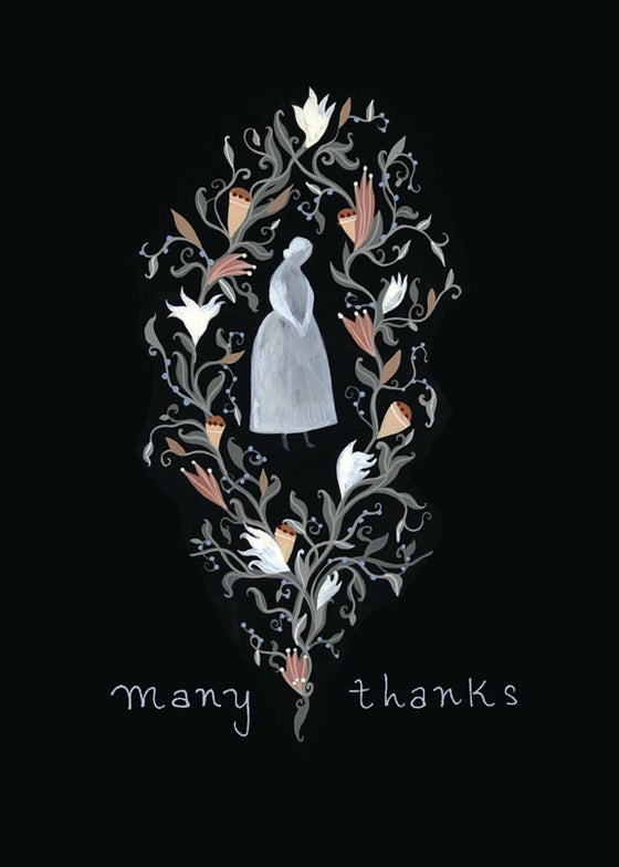 Image of Many Thanks blank card