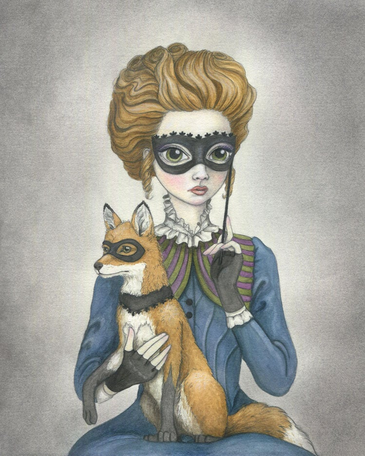 Image of Isaline and the Fox 8x10 print