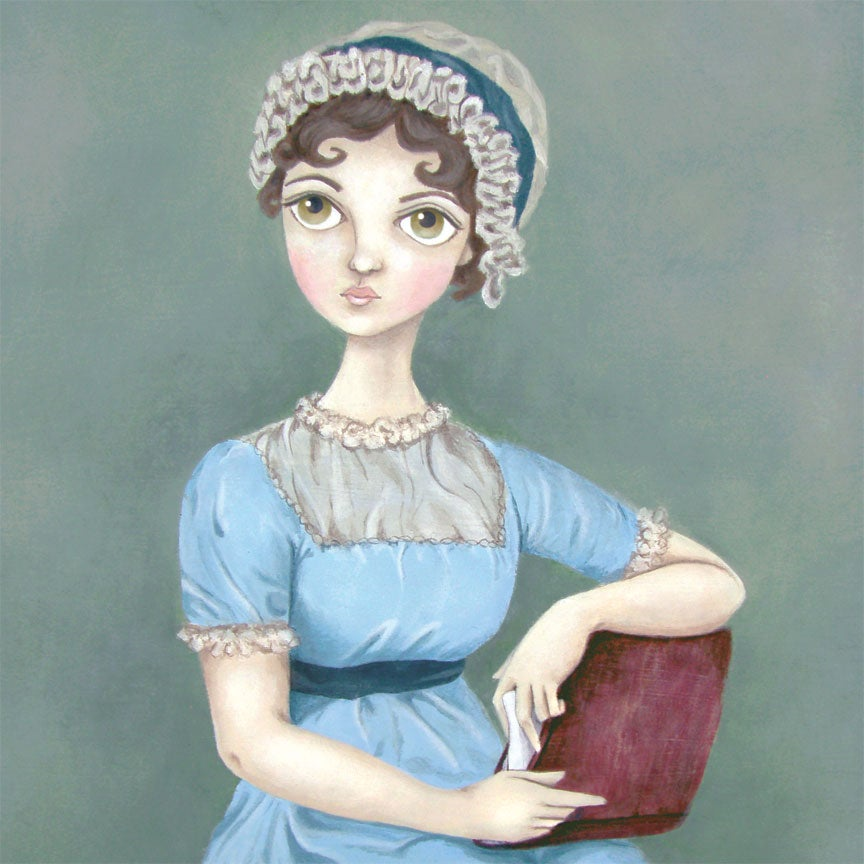 Image of Jane Austen 11x14 print