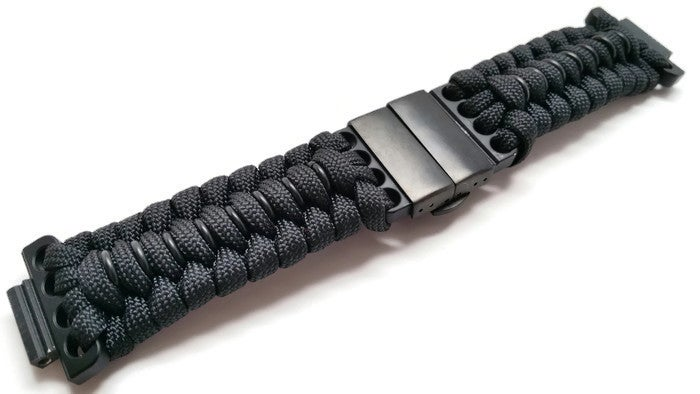 how to make a paracord watch band with two colors