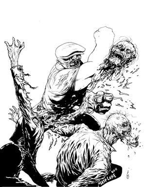 Image of The Goon - original hand inked artwork
