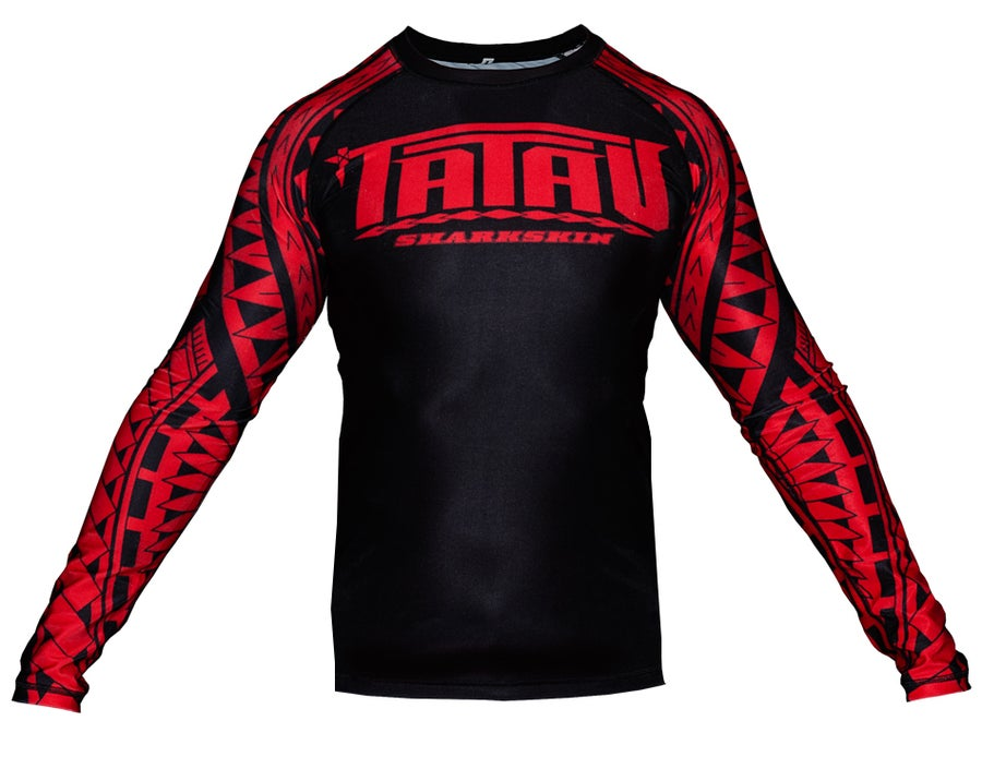 Image of Youth Tatau Sharkskin L/S Black/Red