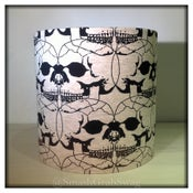 Image of Lampshade 20cm Drum - 'Connected Skulls'
