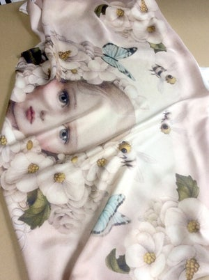 Image of INFLORESCENCE Silk Scarf by Nicoletta Ceccoli