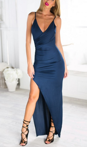 Image of DEEP V SEXY FORK HOT DRESS