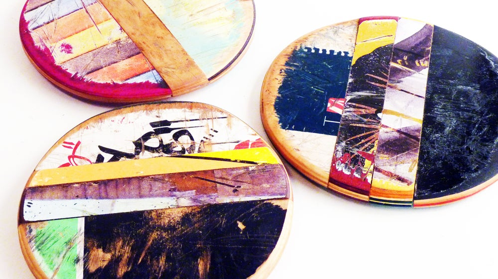 Image of SkateSpot Trivet Set - Set of Three (3) Trivets - by Deckstool