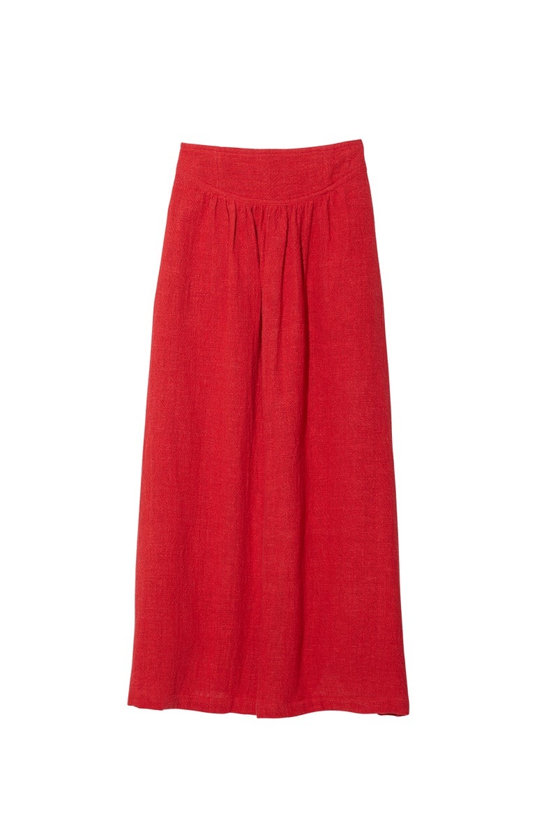 Image of BAND SKIRT RED