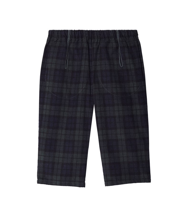 Image of POCKET PANTS PLAID OR BLUE