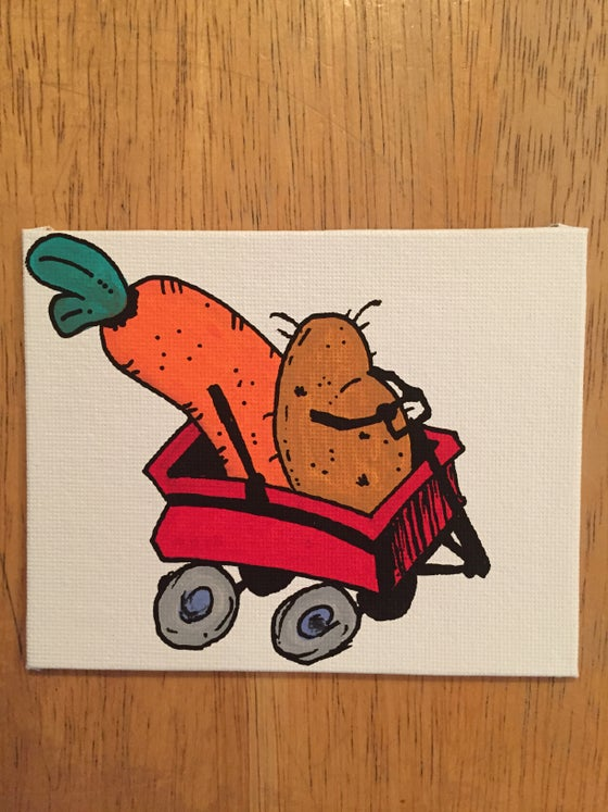Image of Potato and Carrot Wagon