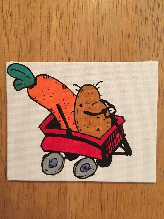Image of potato and carrot wagon