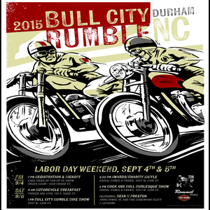 "Image of NEW ITEM: Bull City Rumble 2015 Small Poster 11"" x 17"""