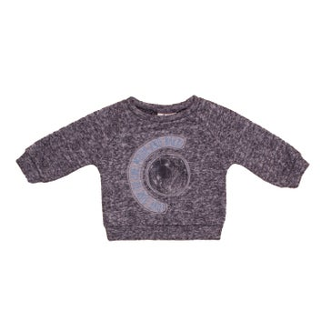 Image of AW15/16 <> Sweat-shirt bébé garçon Noé & Zoë « Bubble » gris