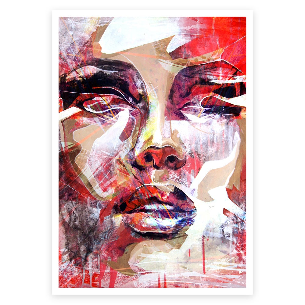 "Image of ""Red Portrait"" Open Edition Print FREE WORLDWIDE SHIPPING"