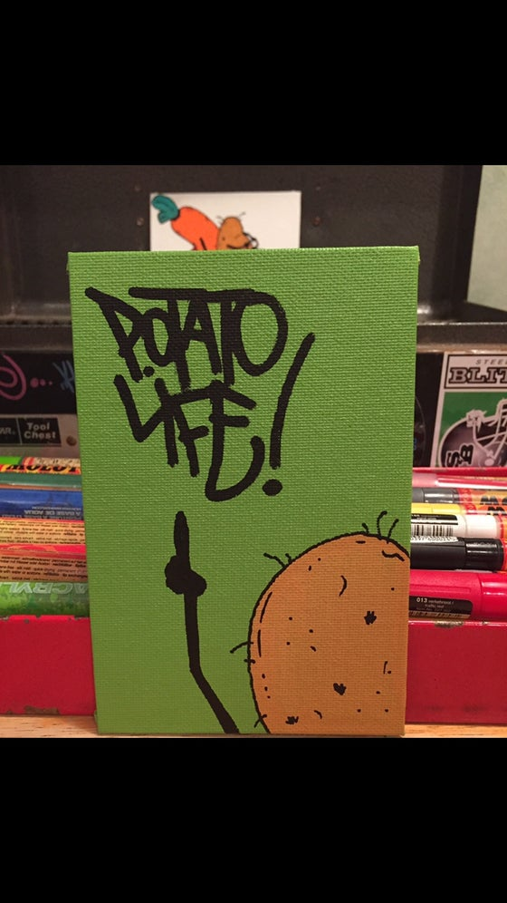 Image of Potato Life 4x6 panel