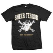 "Image of SHEER TERROR ""Dog & Crossbones Established MCMLXXXIV"" T-Shirt"