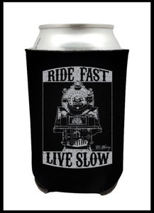 "Image of Back in stock ! ""Ride Fast, Live Slow"" Coozie"