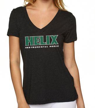 Image of Women's Helix Instrumental Gray V-neck