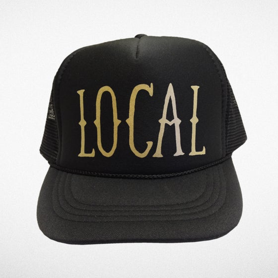 Image of Kids Local Trucker Hat Black/Gold