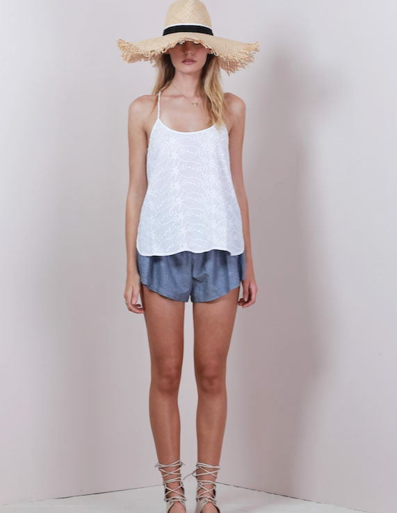 Image of LILYA Conti Top - White Embroidery