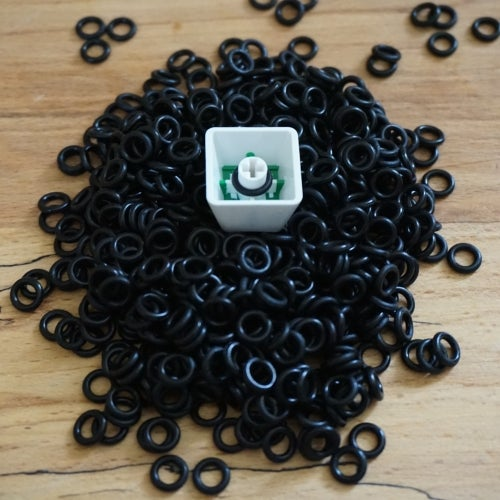 Image of 120 Black O-Rings for Cherry MX