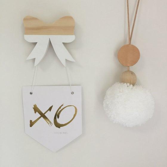 Image of Flag Print 'XO' Gold Foil