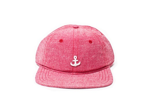 Image of Any Port 6 Panel Cap - Scarlet