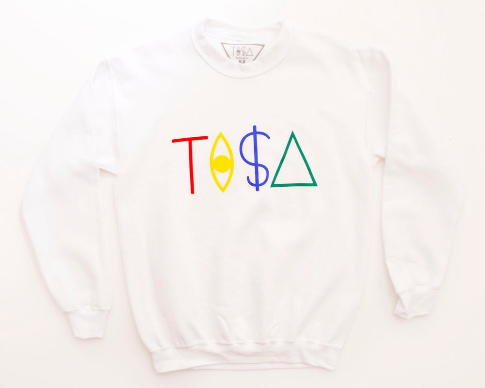Image of TI$A LOGO SWEATSHIRT WHITE