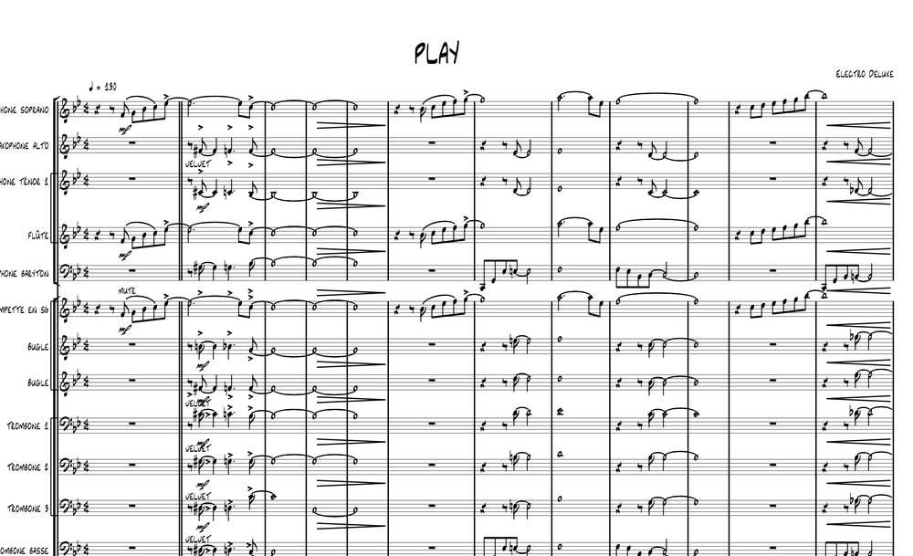 "Image of ""PLAY"" arrangement for Big Band"