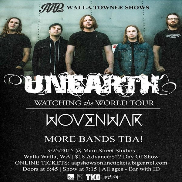 Recently Experienced Shows 9_25_-_unearth_wovenwar_tickets_-_walla_walla