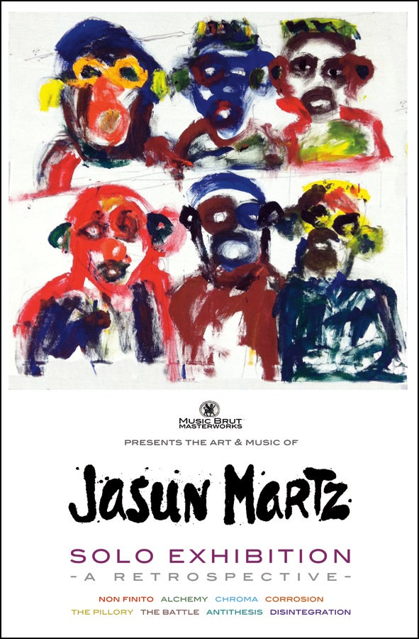 Image of Jasun Martz artist poster from Milan, Italy. Personally autographed.