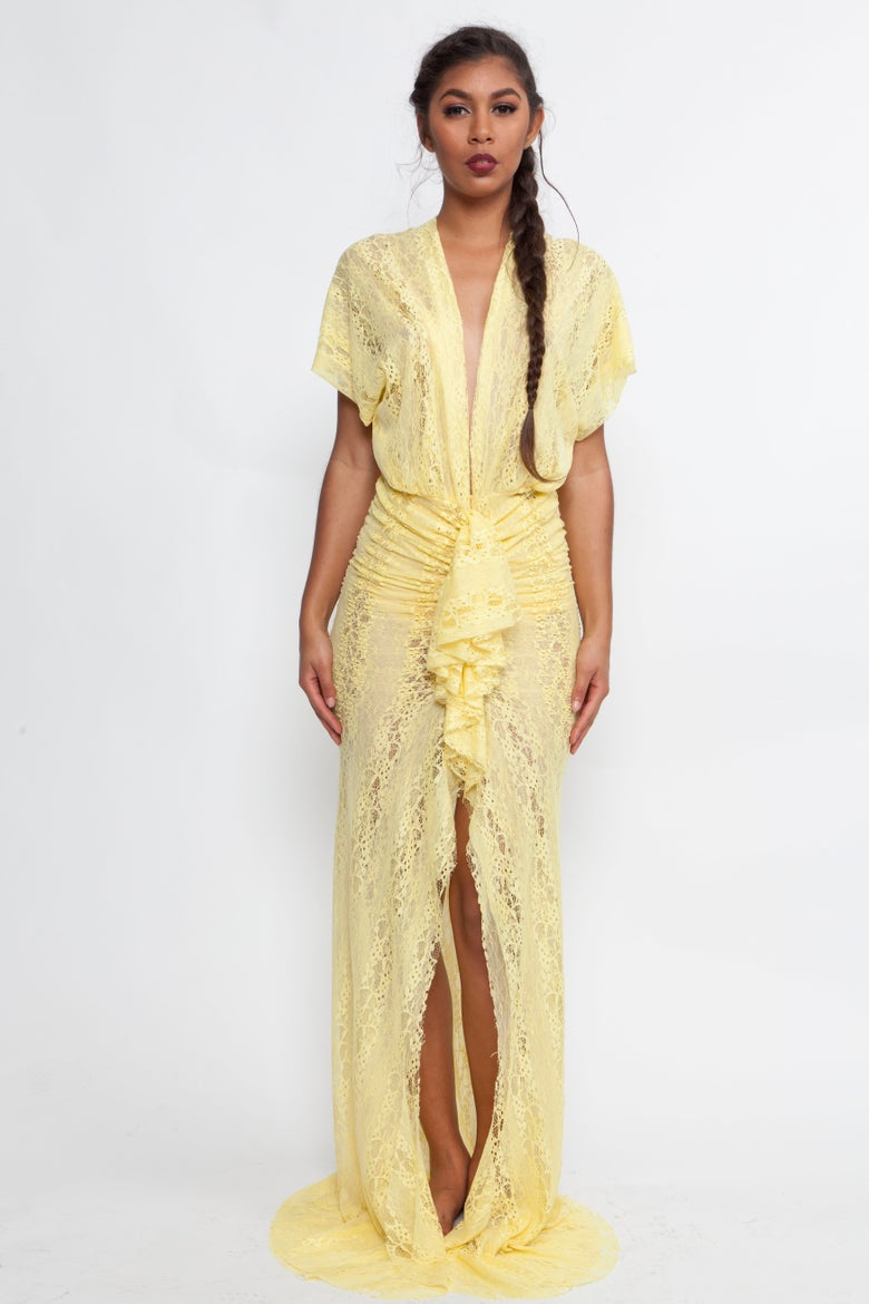 Image of Philthy Ragz Yellow Lace Willow