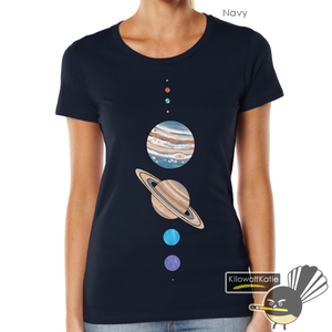 Image of SOLAR SYSTEM (PLUS ONE) - printed tees